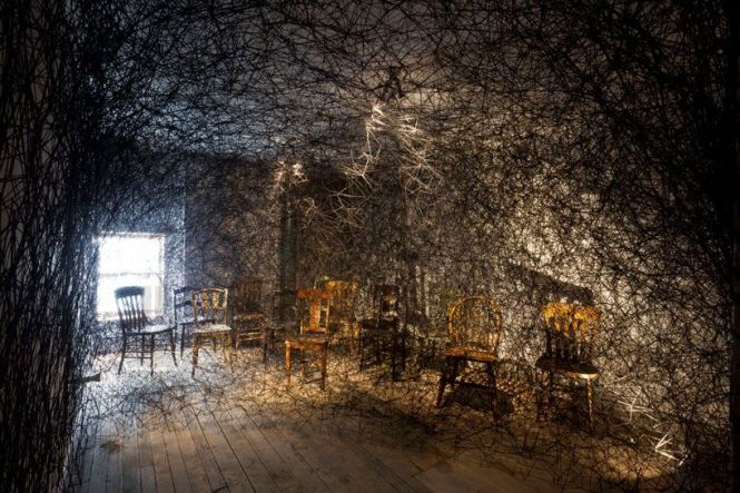 Trace Of Memory By Chiharu Shiota At The Mattress Factory Pittsburgh Pa