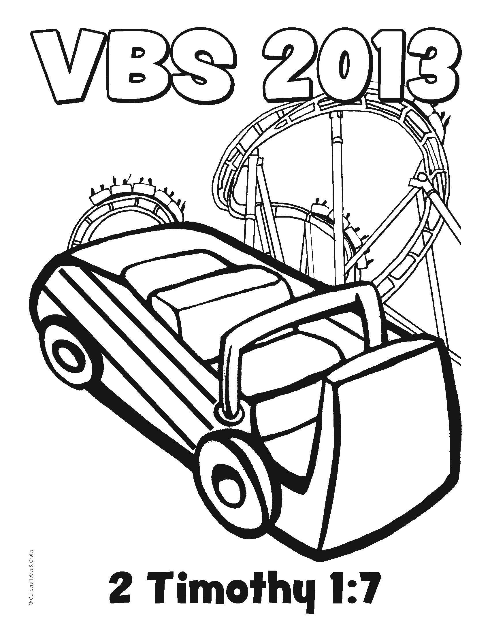 Free Roller Coaster Vbs Coloring Sheet From