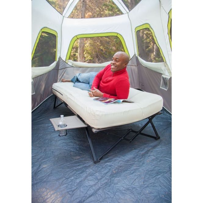 Airbed Cot Twin Camping Inflatable Bed Mattress Steel Frame Portable Coleman New