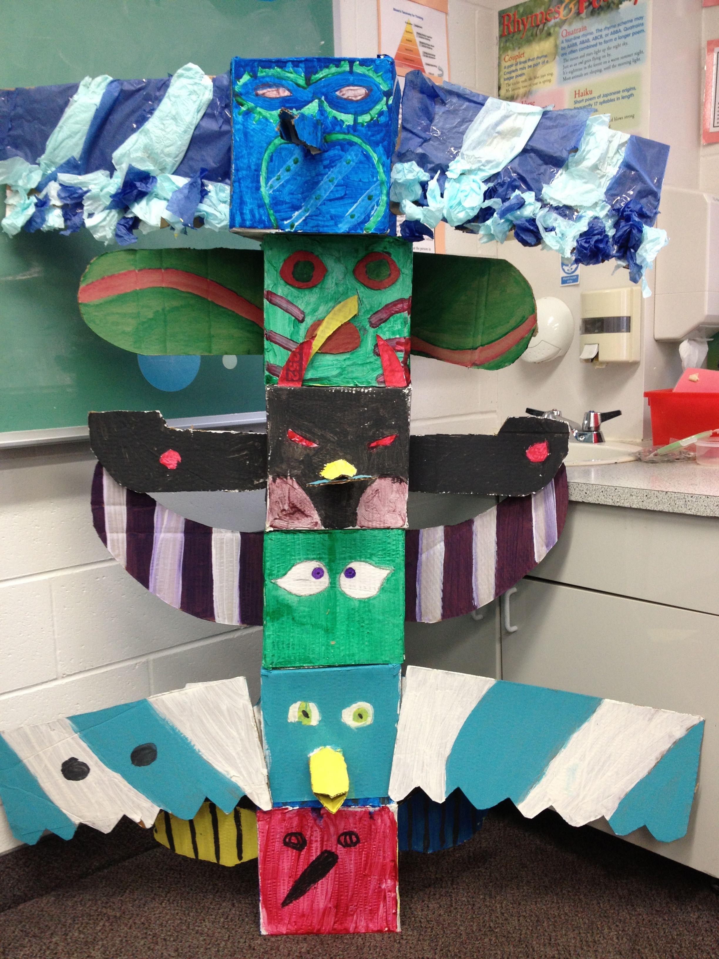 Grade 6 Totem Poles