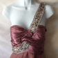 Copper bejeweled prom dress this is a copper colored bejeweled prom