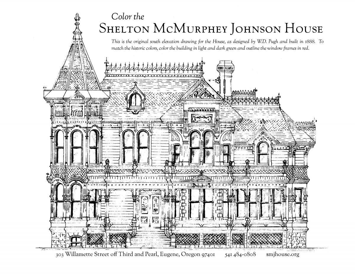 Porch With House Coloring Page Designs Canvas Livros De