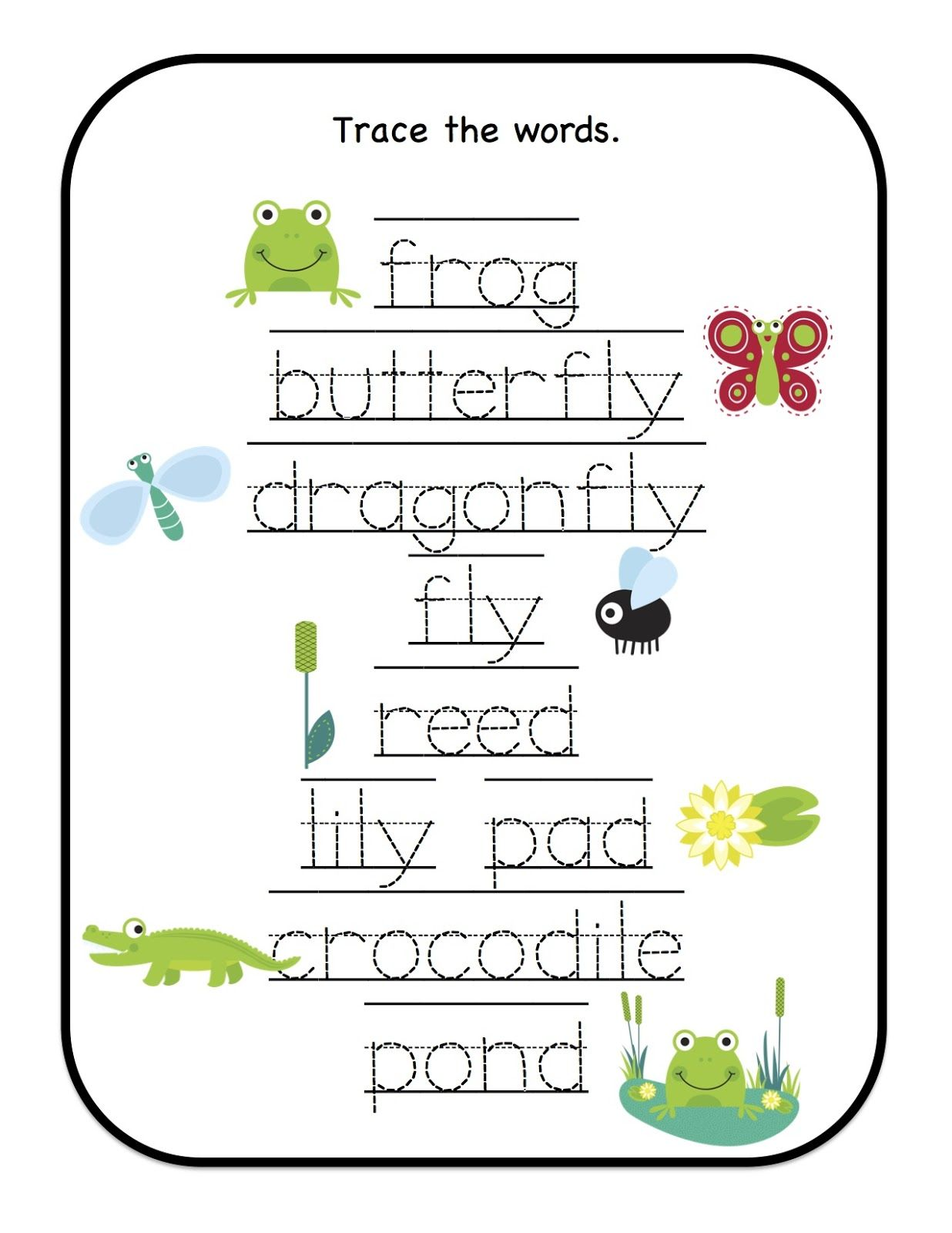 Preschool Printables Down By The Pond Printable Many