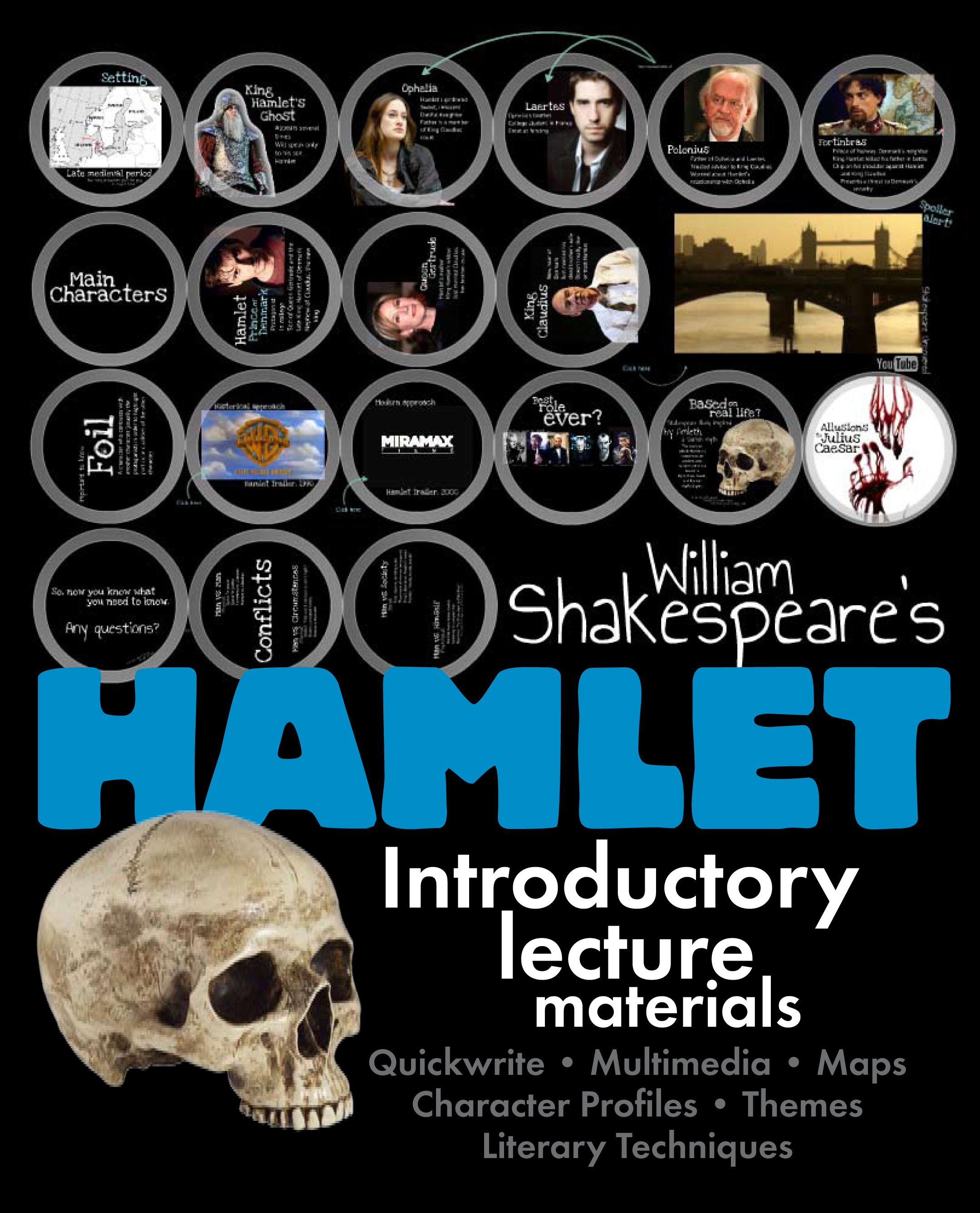 Hamlet Dazzling Lecture Materials To Launch Shakespeare S Tragic Play