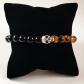 Men tiger eye and onyx beaded skull bracelet boutique men bead