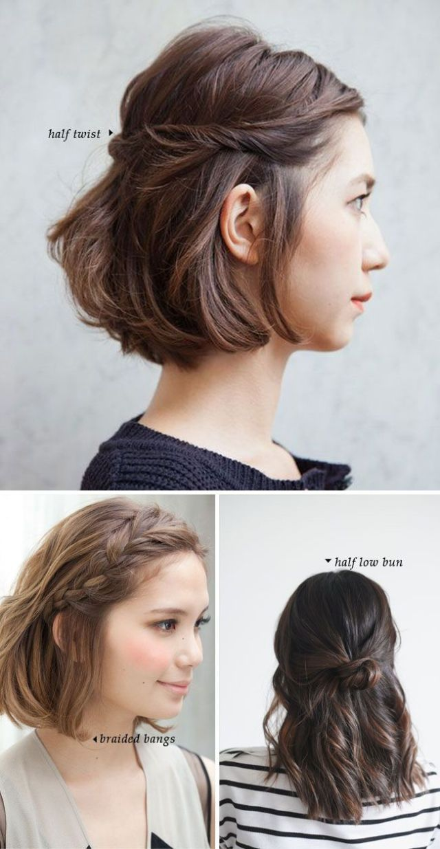 Best 25 Easy  short  hairstyles  ideas on Pinterest Braids