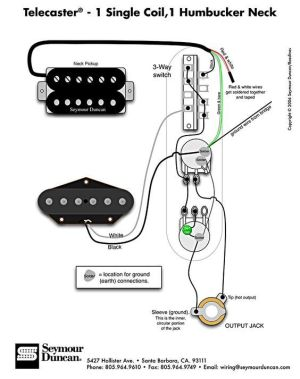 Telecaster Wiring Diagram  Humbucker & Single Coil