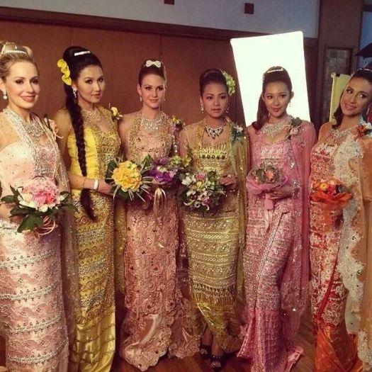 myanmar wedding dress | Costumes | Pinterest | Wedding ...