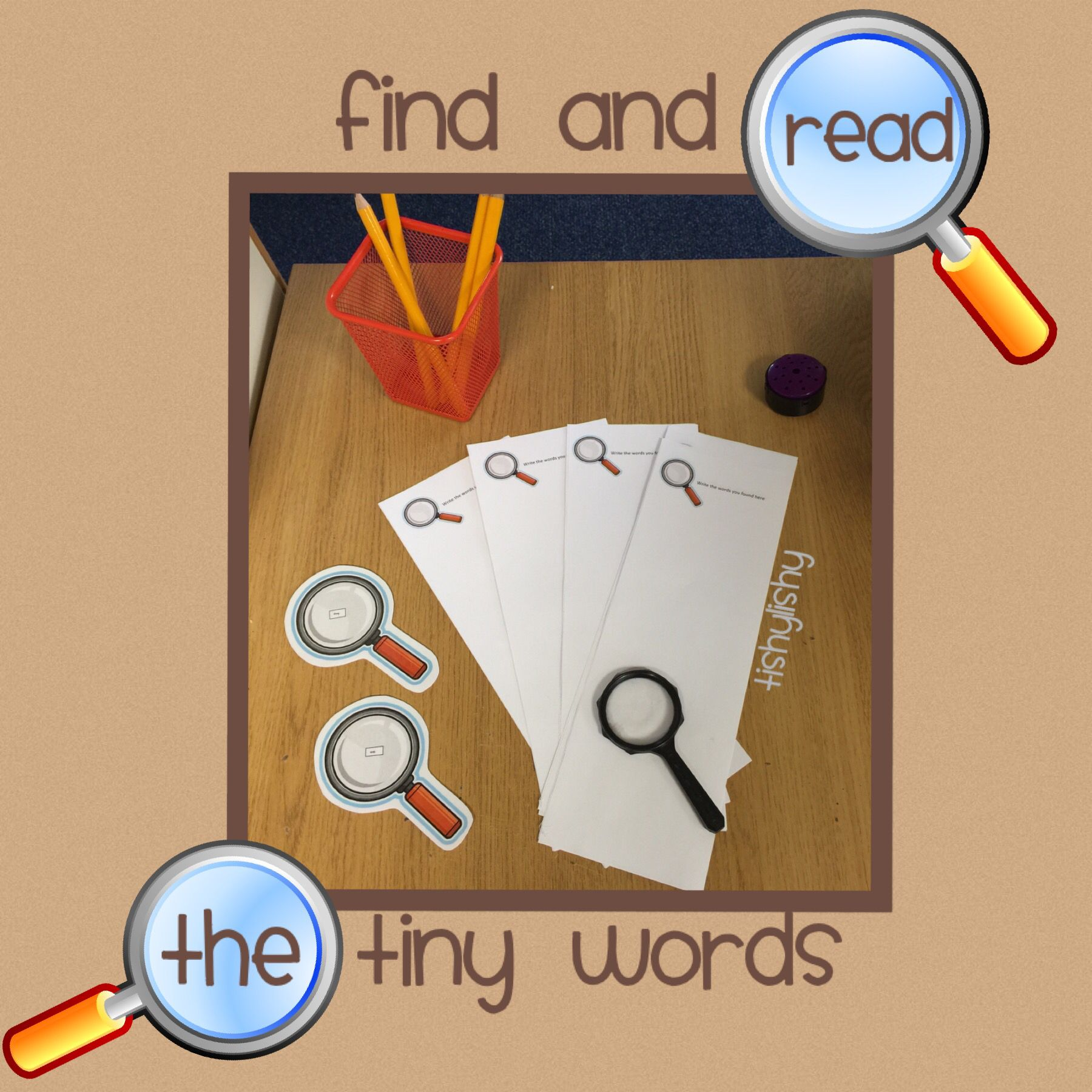 Phase 3 High Frequency Words On Magnifying Glasses Hidden