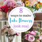 Home decor artificial flowers   Ways to Make Fake Flowers Look Real  Real flowers Floral