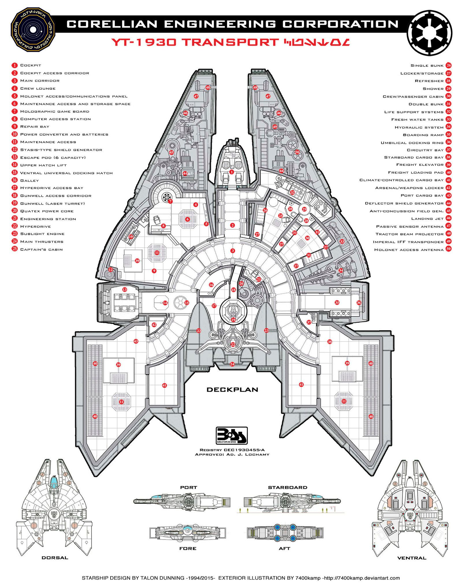 Corellian Yt Deckplan By Everwho On Deviantart