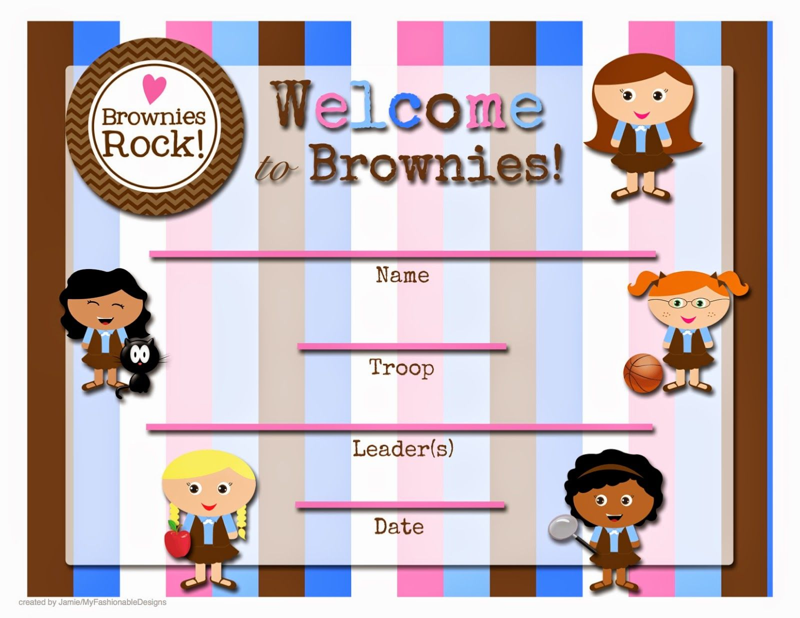 Free Printable Welcome To The Troop Certificate