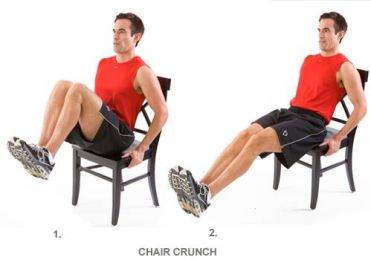 Image result for CHAIR CRUNCHES