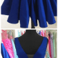 Short royal blue homecoming dressvneck short prom dressesparty