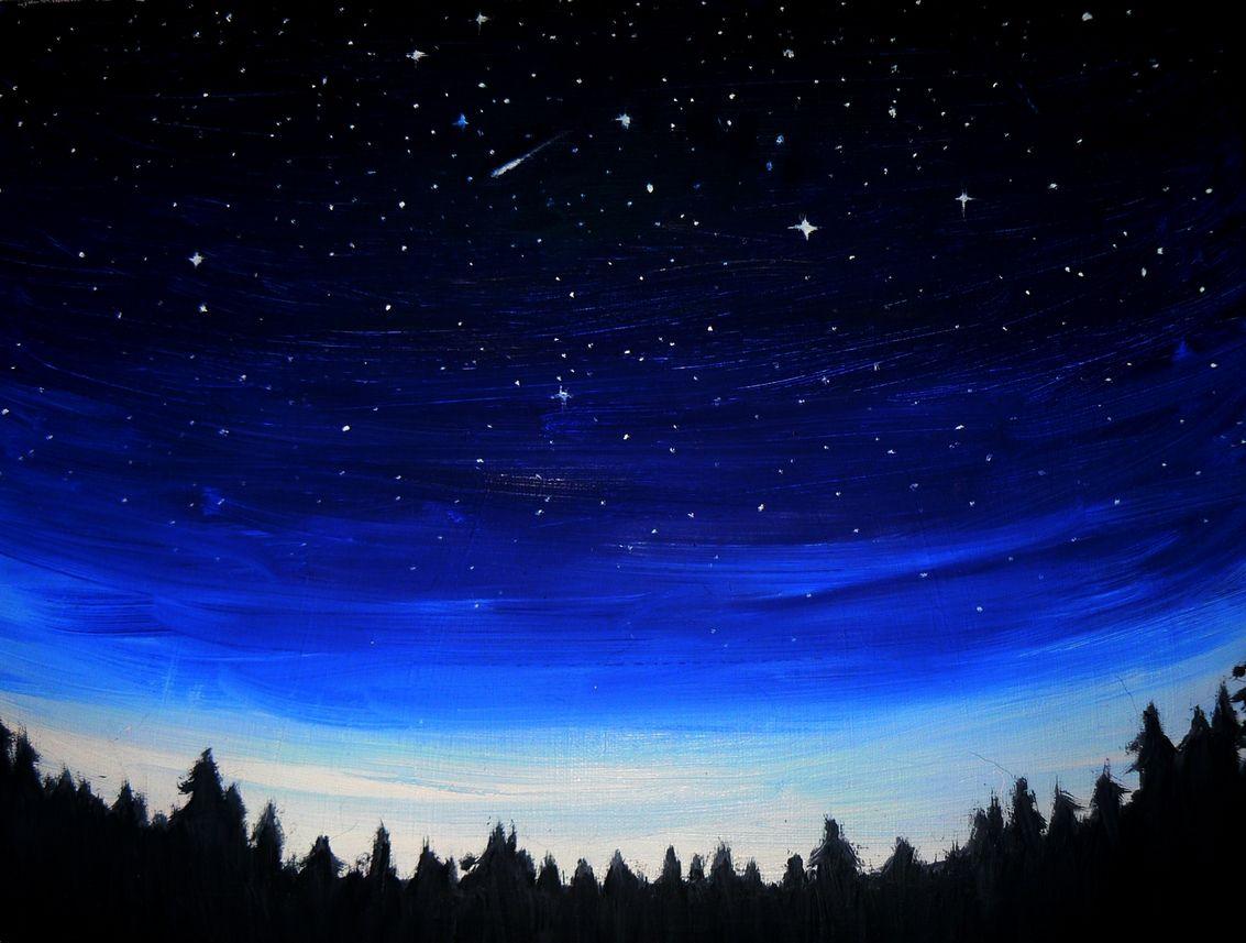 Paintings Of Night Sky