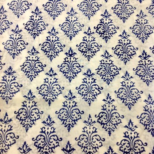 Desicrafts Indian Block Print Fabric Organic Cotton By