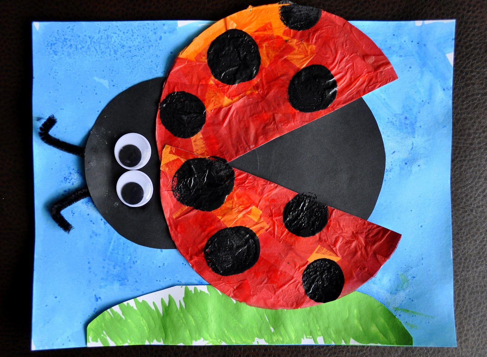 I Heart Crafty Things Eric Carle Inspired Lady Bug