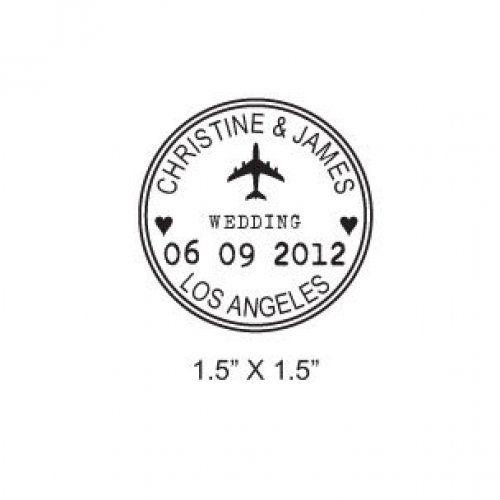 Rubber Stamp Wedding Invitation Stamps
