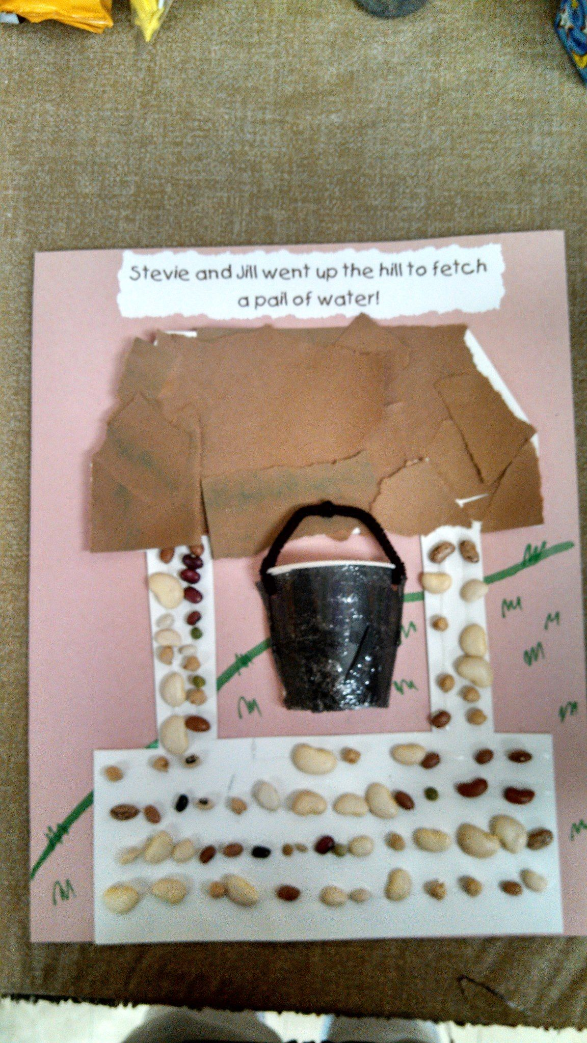 Nursery Rhyme Themed Art Project This One Is For Jack And Jill Students Ripped Paper For Top