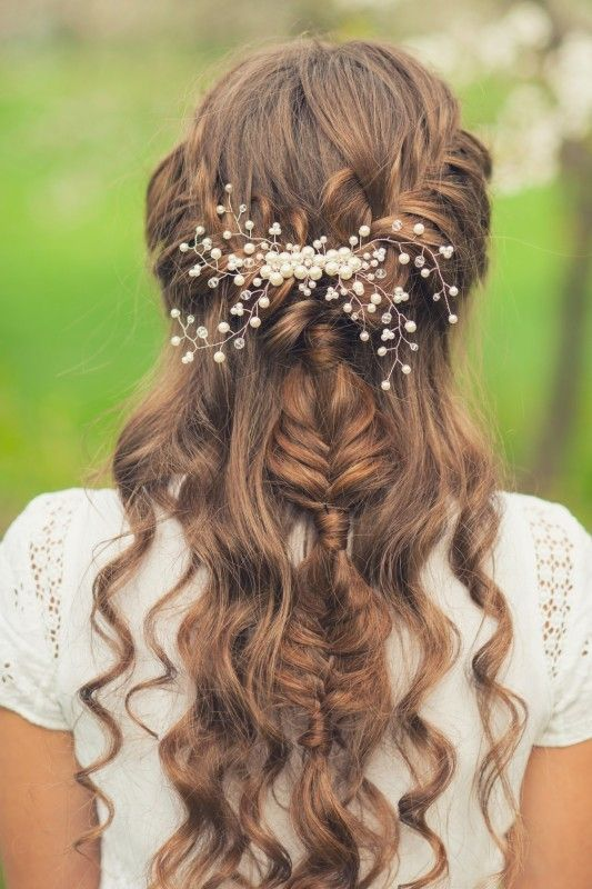 Girl with beautiful braid hairstyle  rear view   Hair   Pinterest     Girl with beautiful braid hairstyle  rear view