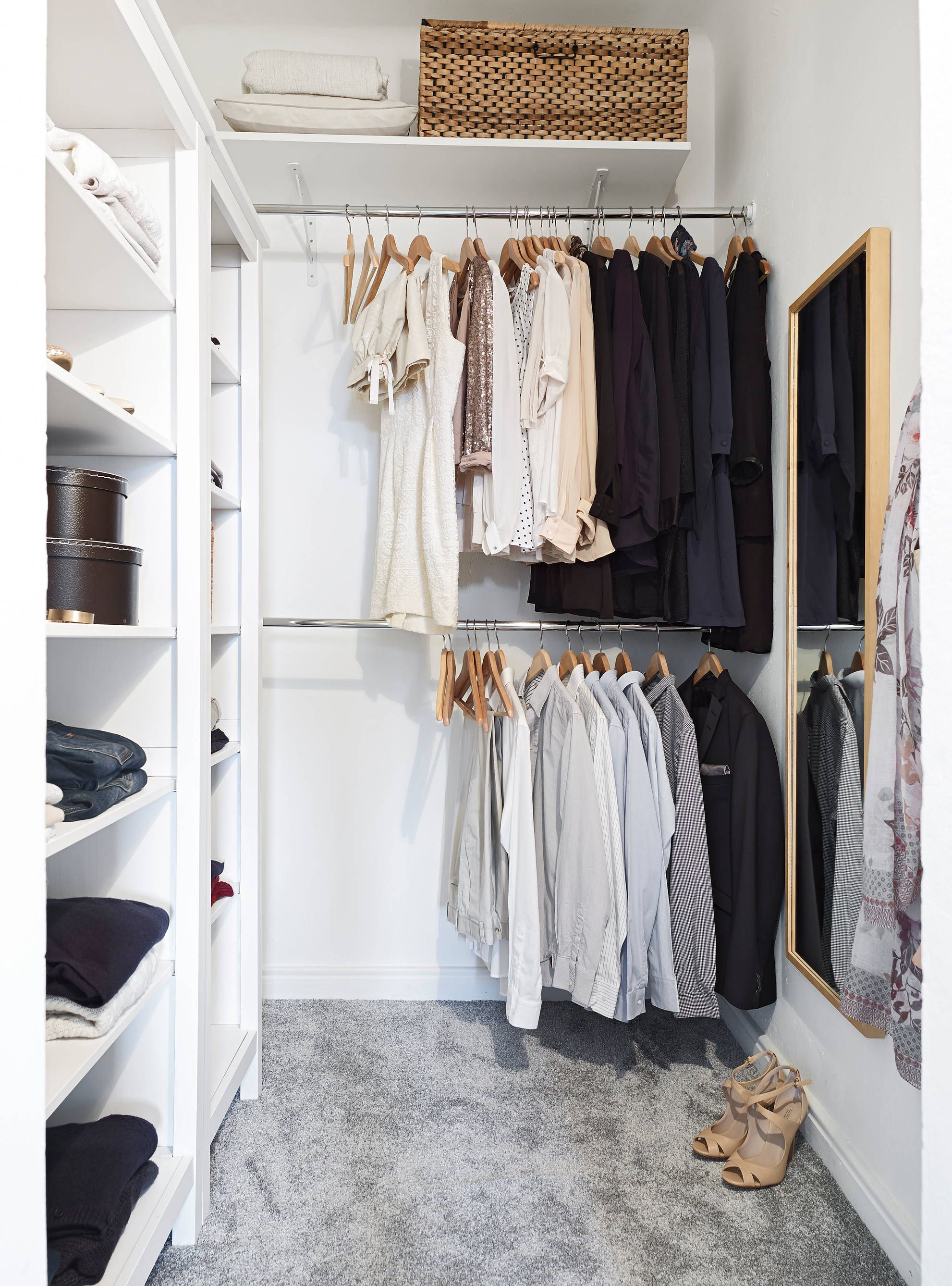 12 small walk in closet ideas and organizer designs on extraordinary small walk in closet ideas makeovers id=67969