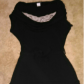Juniors large top long black sweater top with lace to cover up