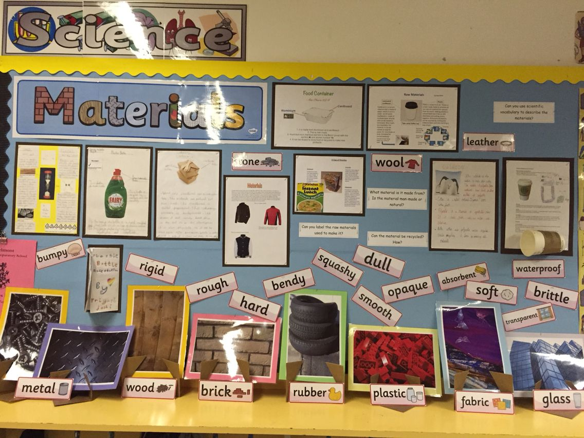 Materials Display Science Year 3 Gave All Children A