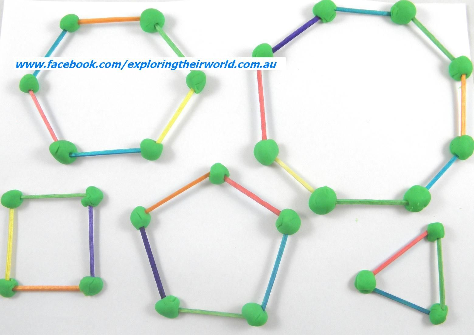 Get The Kids Learning About 2d Polygons With Matchsticks And Playdough Reinforce The Language