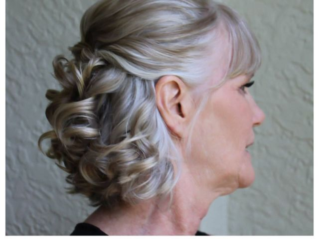 bridal hair, wedding hair, mother of the groom http