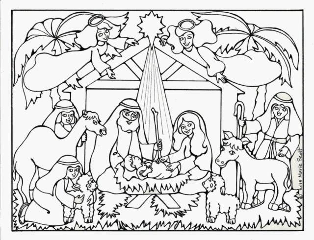 Free Printable Coloring Pages Christmas Nativity  Coloring and