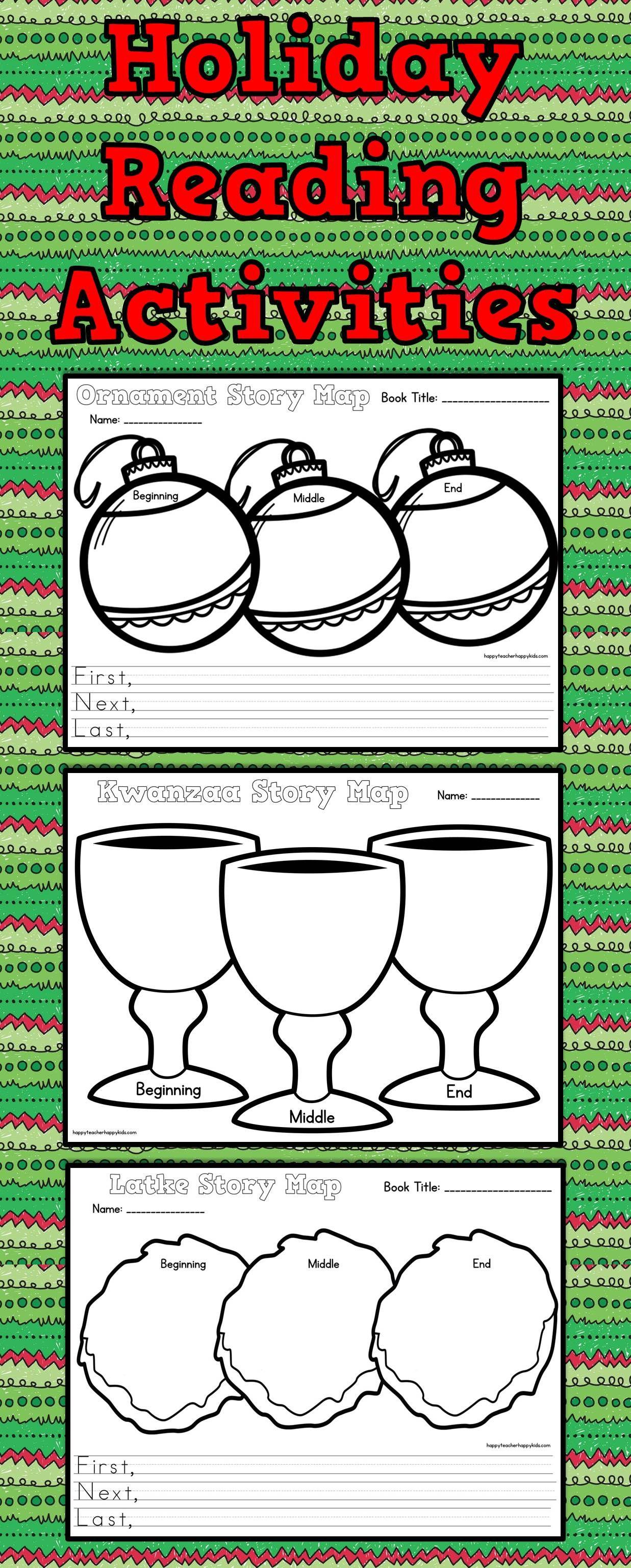 December Reading Comprehension Activities Hanukkah Kwanzaa Christmas
