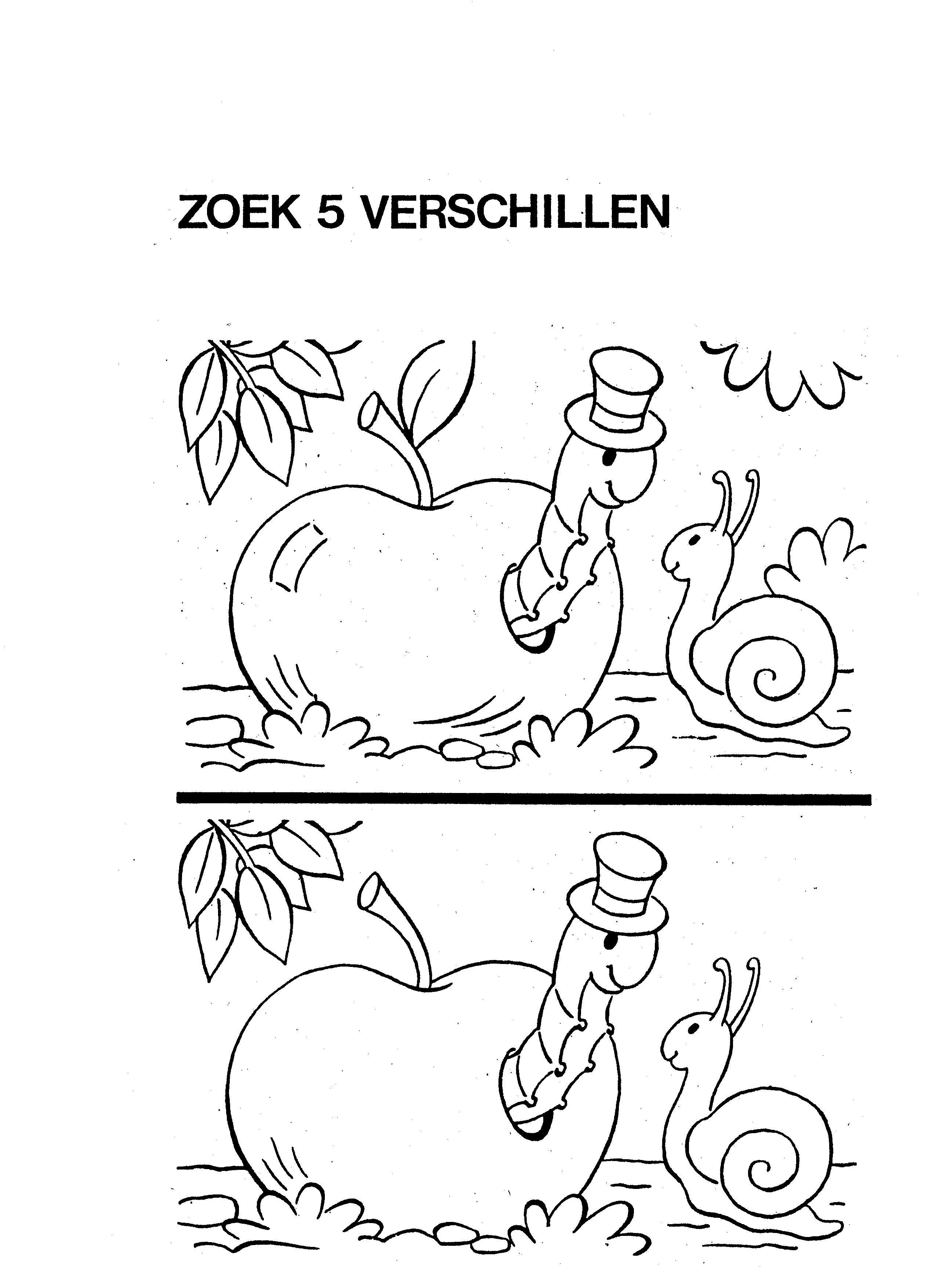 Kleutergroep Herfst Werkbladen Zoek 20de 205 20verschillen 201