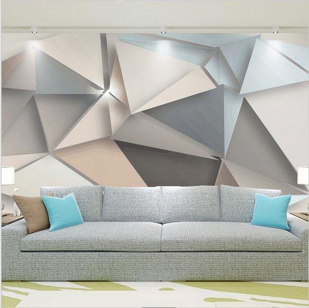 Stylish Modern 3D Abstract Geometric Wallpaper Custom Mural Wohnideen