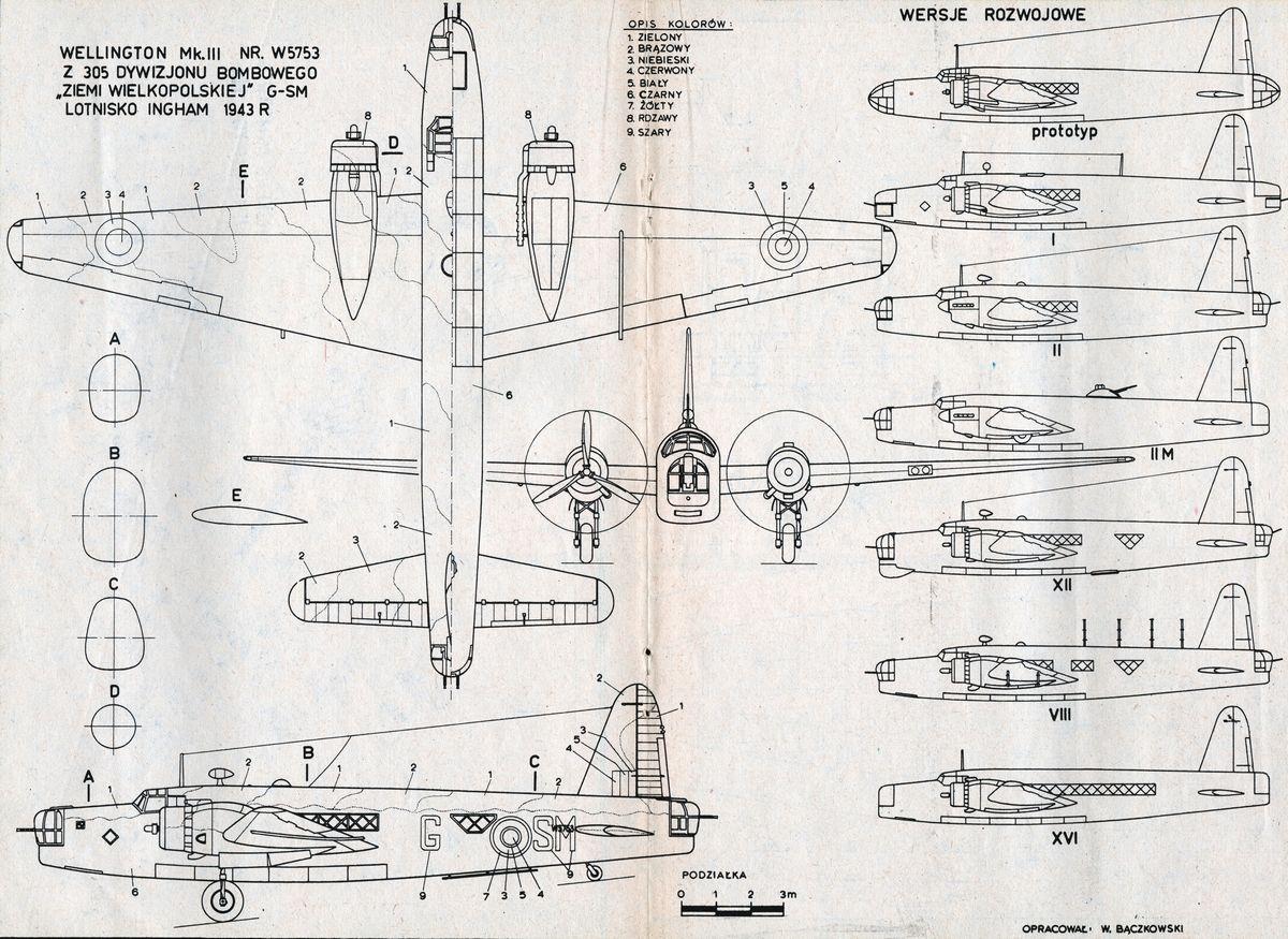 Vickers Armstrong Wellington Mk Iii Plany Modelarskie