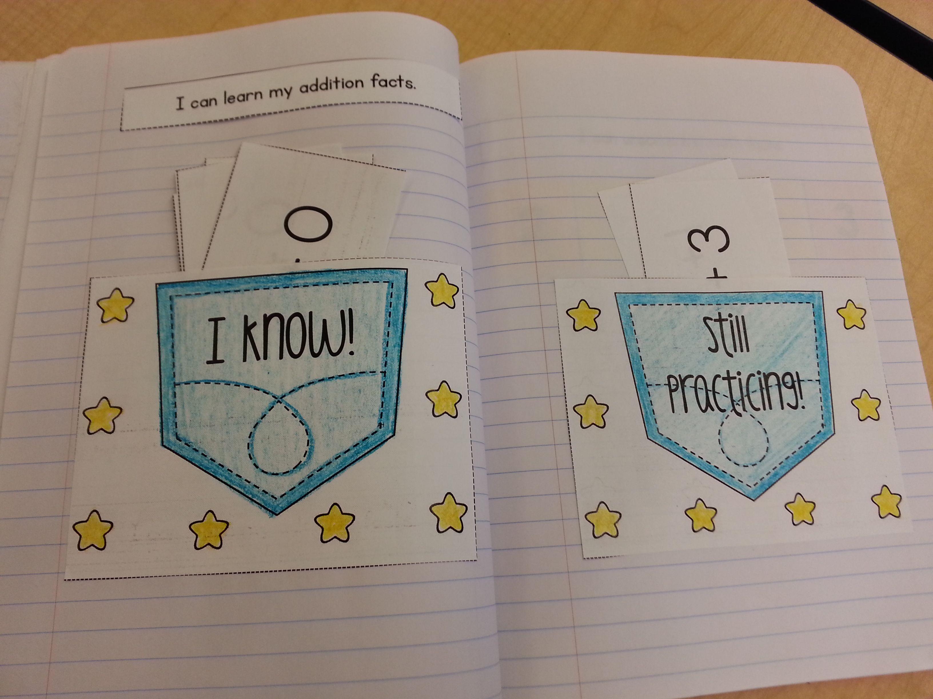 Interactive Math Notebook For Kindergarten Unit 8 Fact Fluency