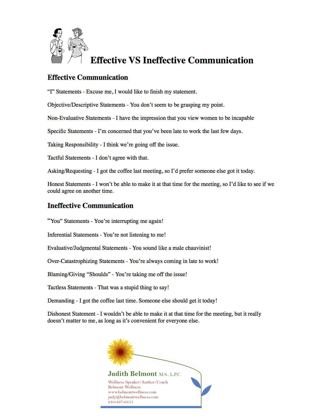 Effective Vs Ineffective Communication
