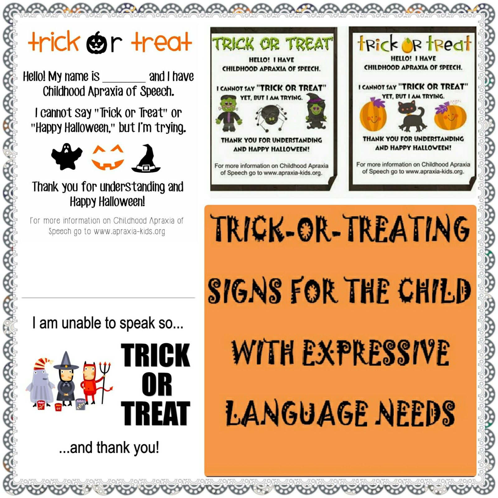 Let S Talk Speech Amp Language Trick Or Treating With