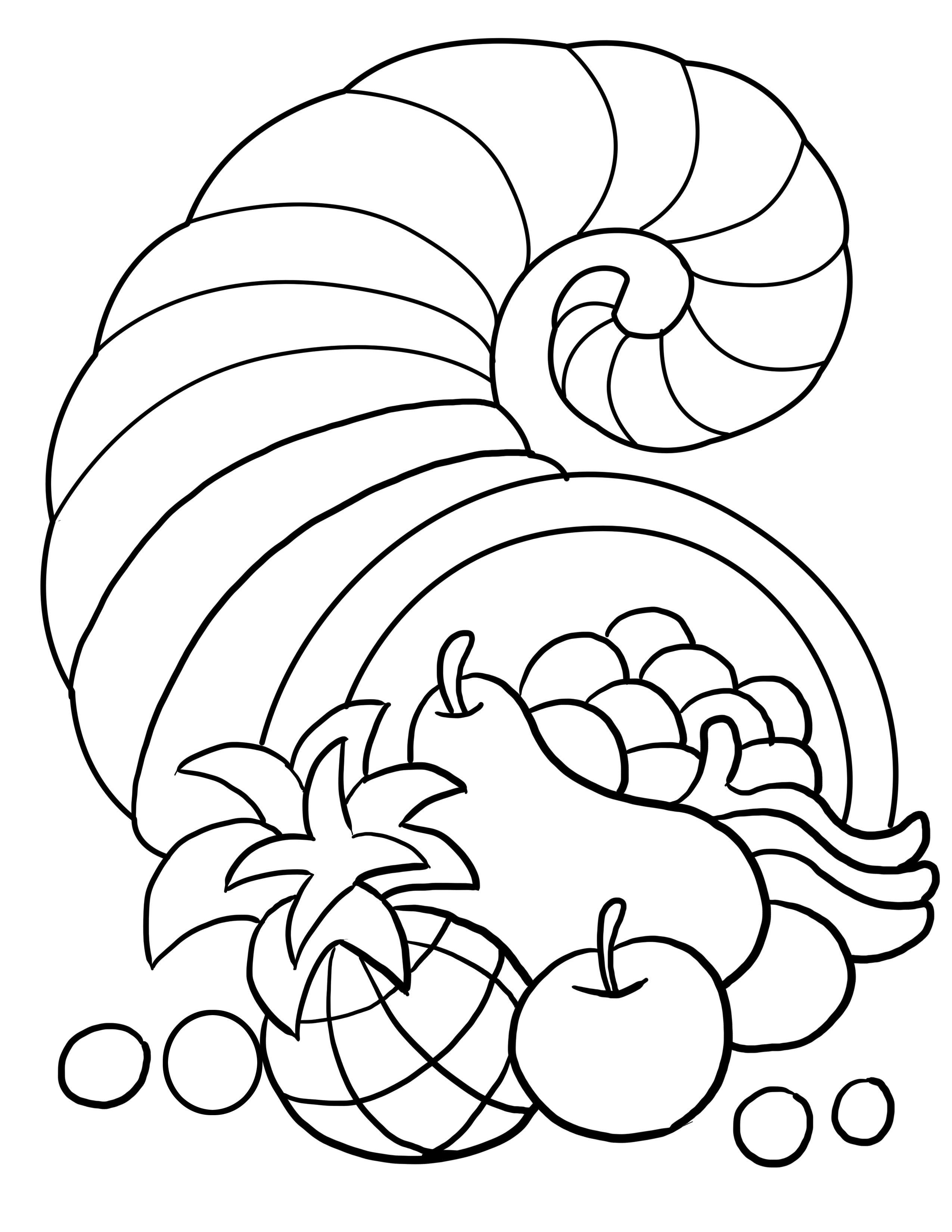 Thanksgiving Cornucopia Coloring Page Thanksgiving Pinterest