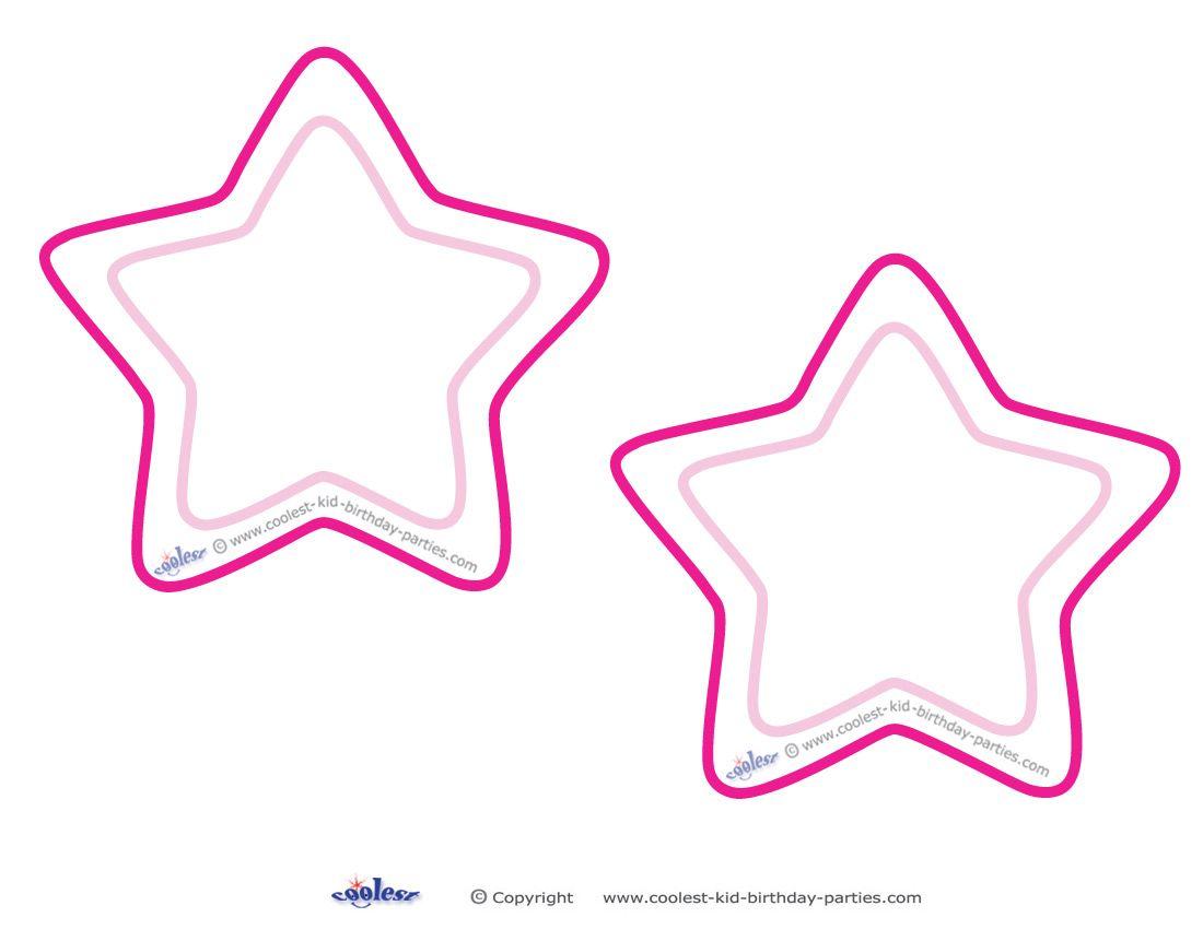 Blank Printable Round Star Invitations Coolest Free Printables