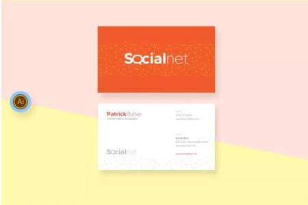 Social Media Business Card Template AI   Business Card Templates     Social Media Business Card Template AI