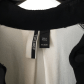 Topshop tuxedo dress black and cream tuxedo shirt dress fits like a
