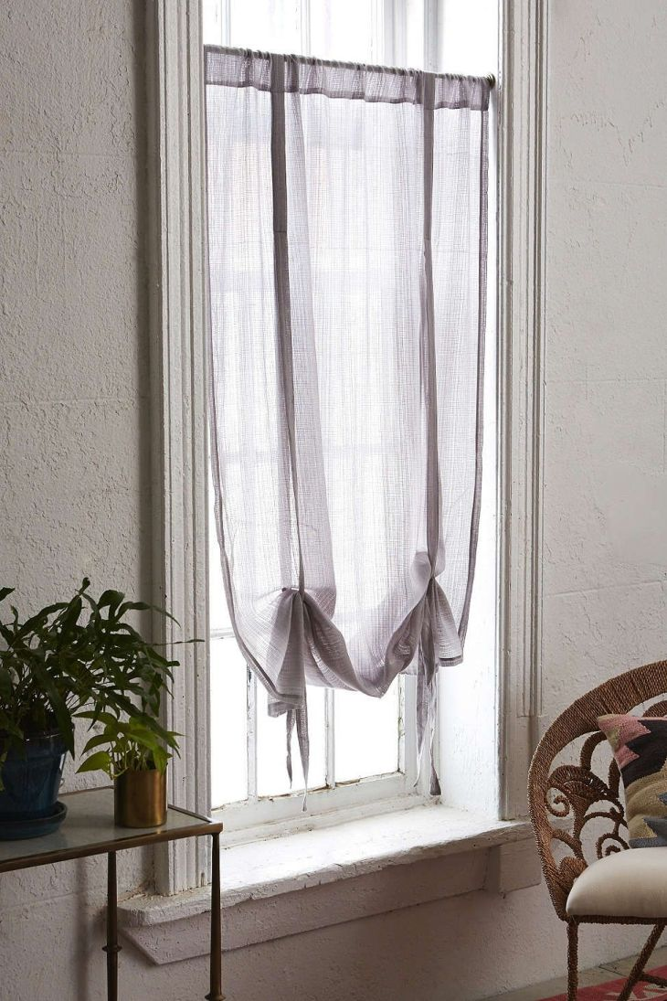 Chloe Gauze Draped Shade Curtain  Window Apartments and Bedrooms