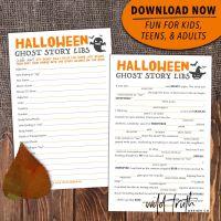 scary halloween mad libs printable