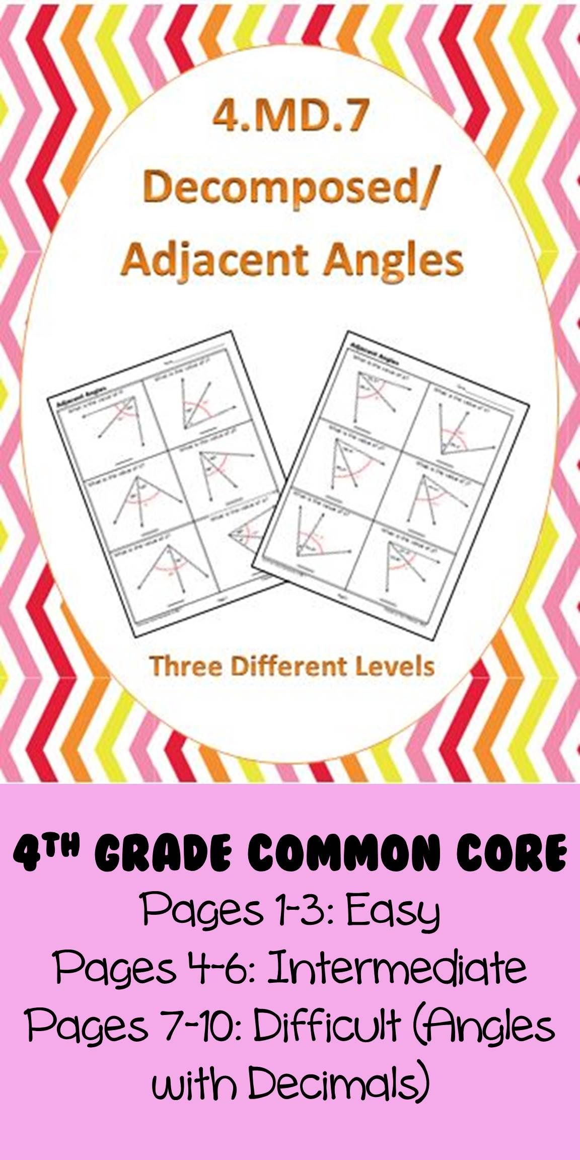 4 7 Common Core Math Standards Decomposed Angles