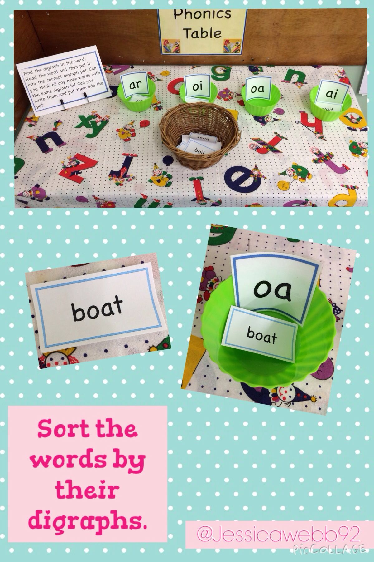 Read The Word And Sort It Into The Correct Digraph Pot