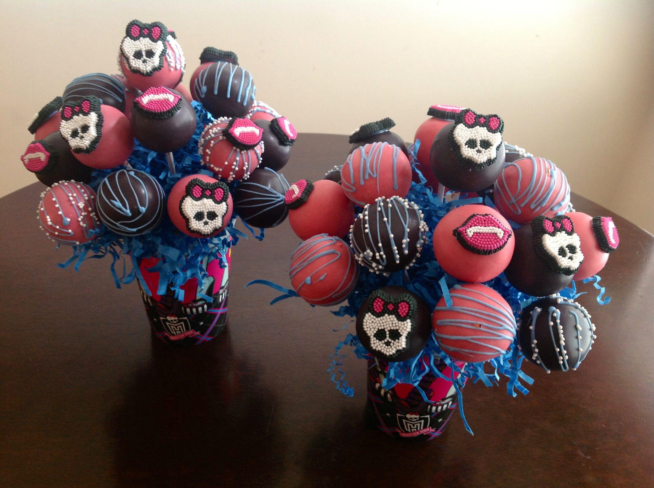 Monster High Cake Pops Bakeawish