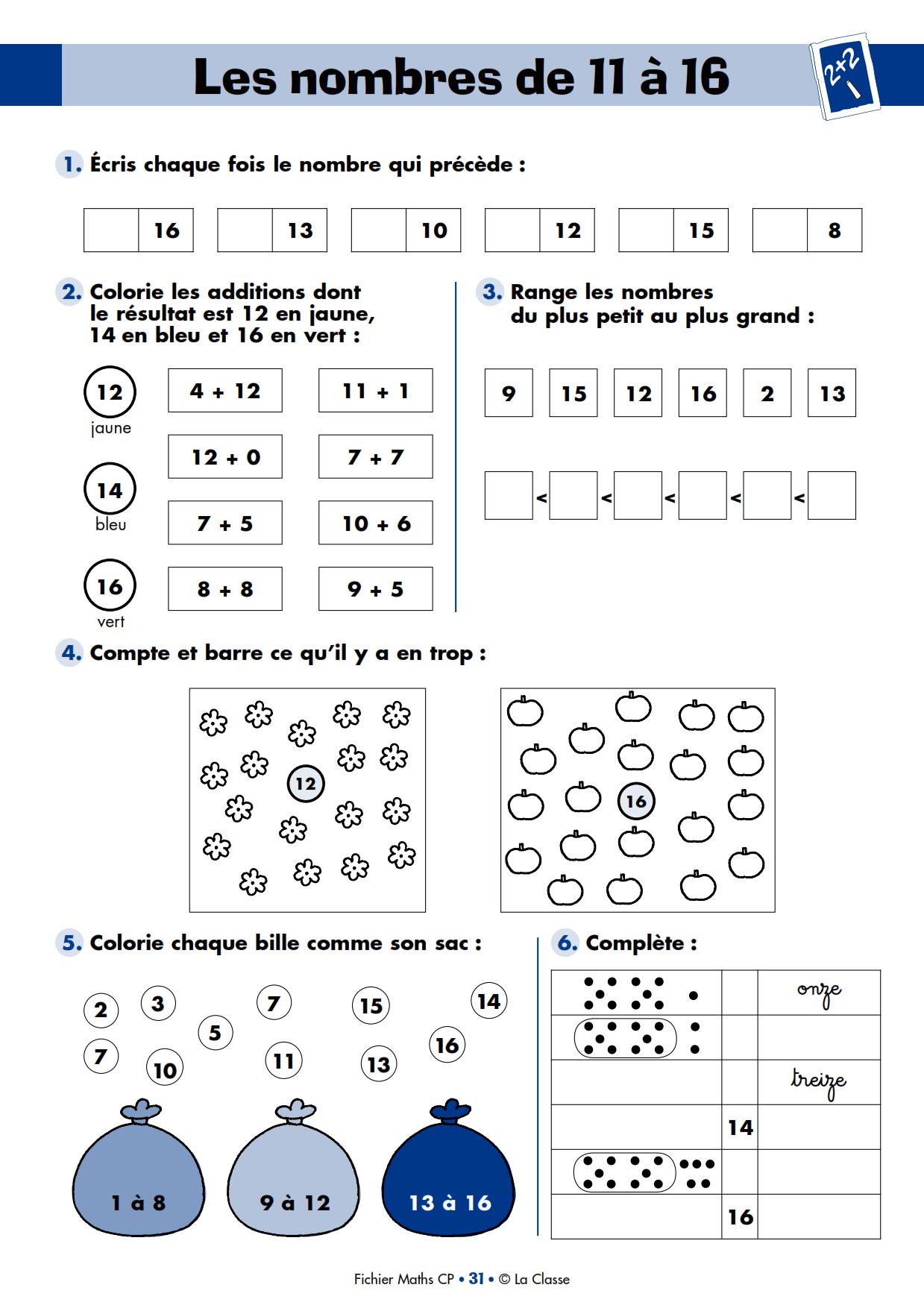 7 Fiches Pour Decouvrir Le Nouveau Fichier Maths Cp De