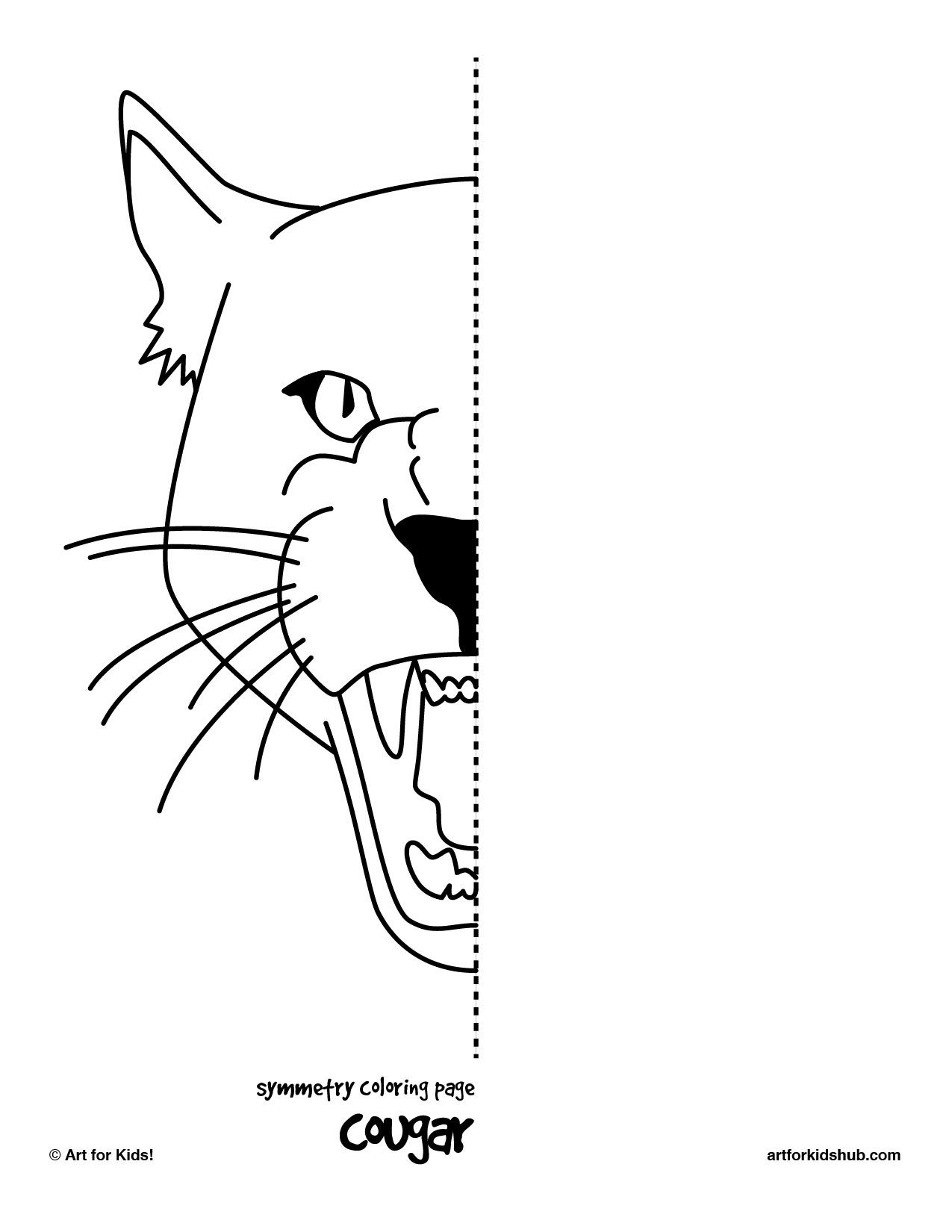 I Made 6 Free Coloring Pages To Illustrate Symmetry Cat