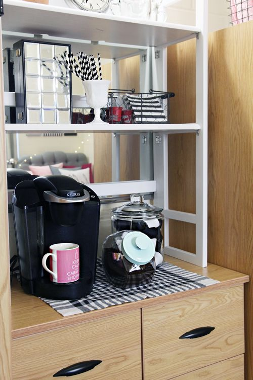 A Coffee Station Above Your Dorm Dresser Container Store