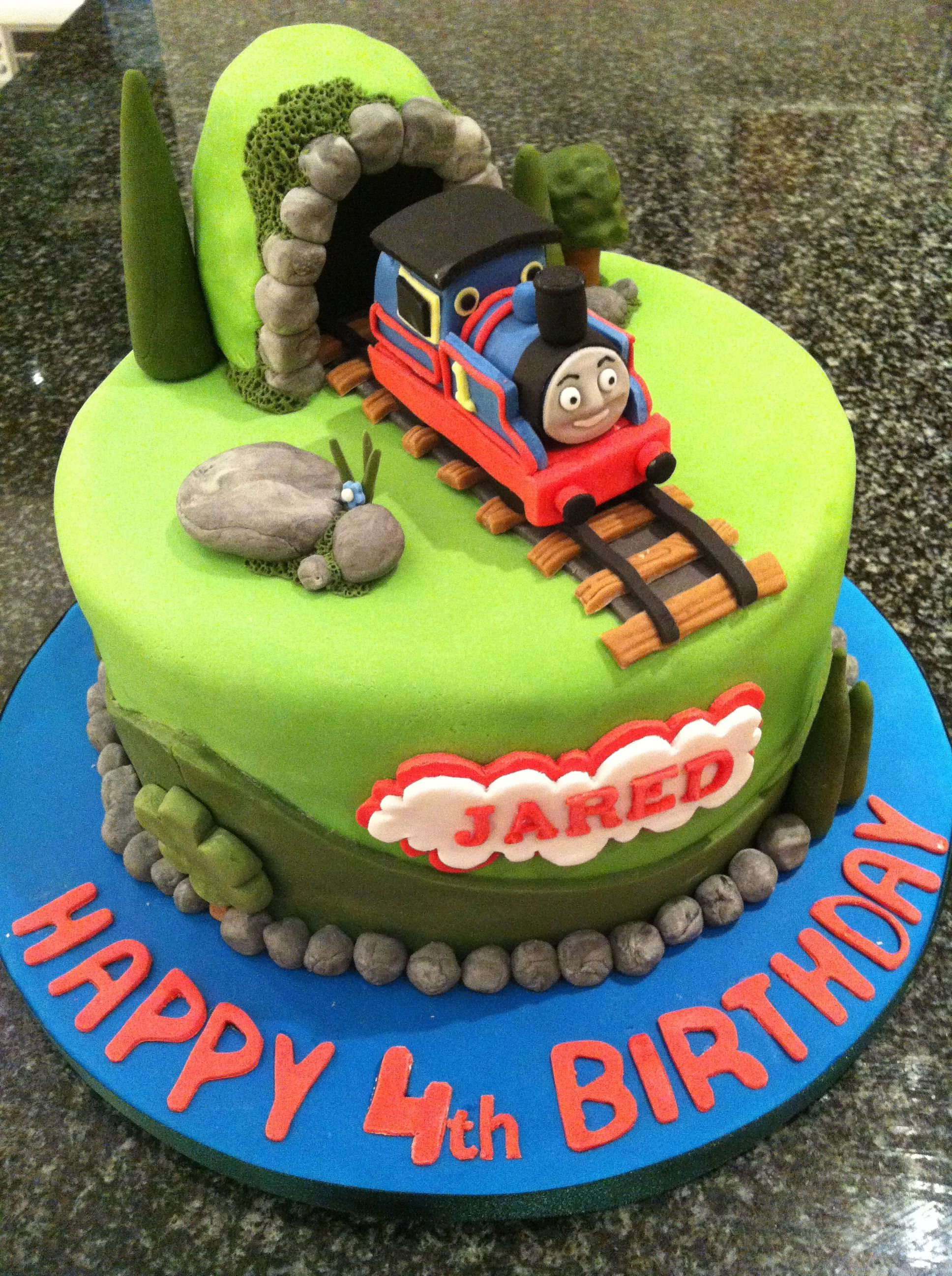 4th Birthday Thomas Cake